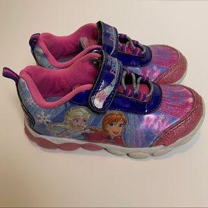 Disney Frozen Pink Light Up Sneakers